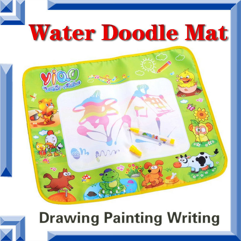 Free Shipping Magic Water Doodle Mat with 1 Pen Drawing Board Water Aquadoodle Baby Play Mat Educational Toy English Packing(China (Mainland))
