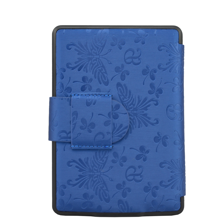 Butterfly print hard back shell leather cover case funda for Amazon kindle paperwhite 2013 Wifi 3G screen protector + stylus pen(China (Mainland))