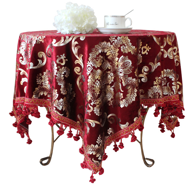 The hotel restaurant tables custom round tablecloths round tablecloths Western European high fashion luxury square cloth tablecl(China (Mainland))