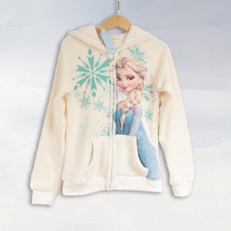 2015 New winter girls coat 100 cotton Elsa jacket Children s recreational coat children s warm