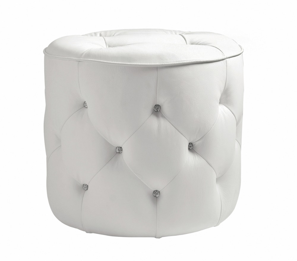 Unique post modern style top graded cow real leather for Modern stools for living room