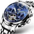 KINYUED New Luxury Men Watches Stainless Steel Waterproof Luminous Watch Man Sport Business Wrist Men S
