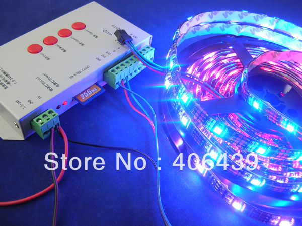 DC5V input;waterproof IP65;30leds/m WS2811 LED strips 5m/roll,with 3WS2811 built-in 5050 smd rgb led chips;Black PCB - SCOTT Store store