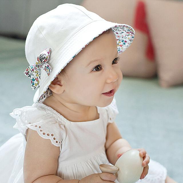 Лето стиль панама младенцы двухсторонний два стороны жестяная банка 100% хлопок солнца боб кепка удобные chapeu рыбак шляпа для девочки