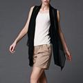 summer style long vest women black sleeveless loose waistcoat femme fashion kimono blouse 10 color