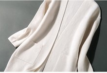 Высококачественные 2018 женские кардиганы зимние кашемировые свитера Серые Длинные повседневные кардиганы для женщин теплые женские длинны...(China)