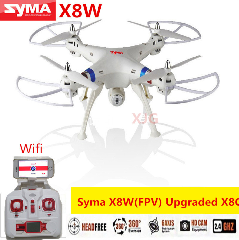 SYMA X8W FPV RC Drone 2.4G 4CH 6-Axis Quadcopter With 2MP WiFi Camera Real Time Video Remote Control Helicopter Quadrocopter(China (Mainland))