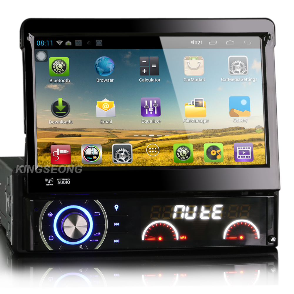 """7"""" 1 Din Android 4.1.1 Car DVD Player Car pc GPS Navigation WiFi 3G Autoradio HD Capacitive 1024*600 Detachable Dual core DTV-IN(China (Mainland))"""