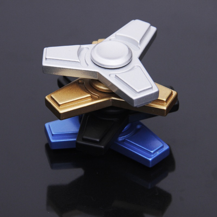 2017 Fidget Toy EDC Metal Tri-Spinner Hand Spinner For Autism and ADHD Anxiety Stress Relief Focus Toys Stress Wheel