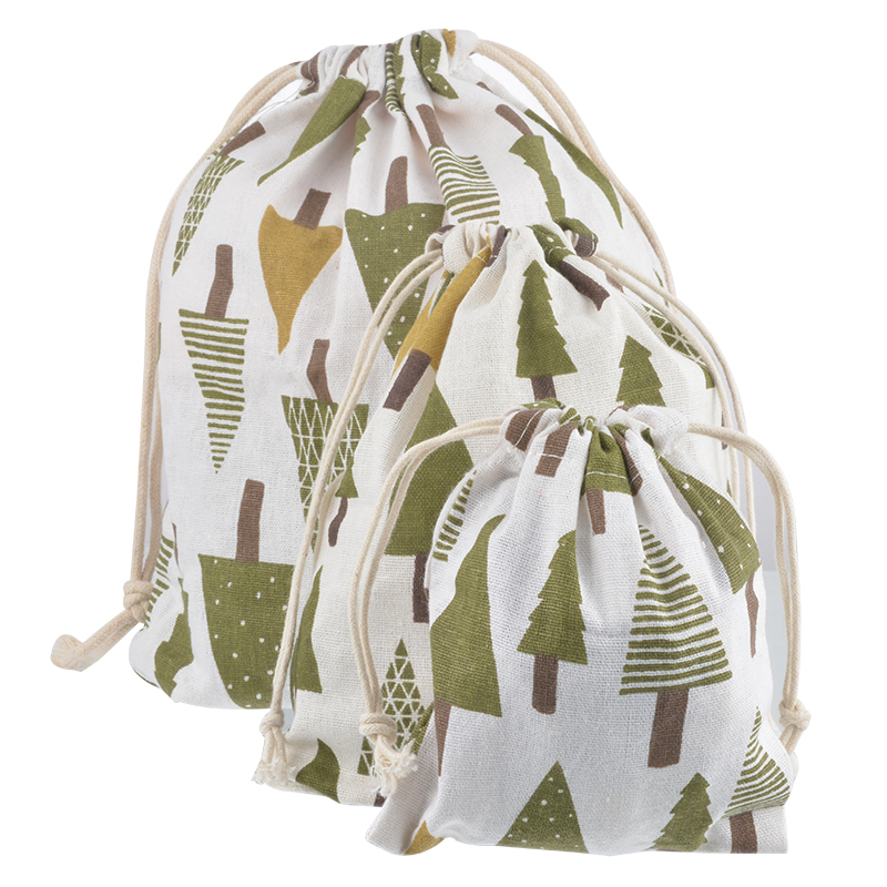 LASPERAL 1PC Christmas Tree Reindeer Decoration Gift Bag Linen Drawstring Storage Bags Chidren Christmas Gifts Pouches Packing(China (Mainland))