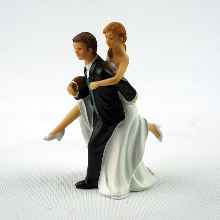 Football Couple Cake Topper Groom Couple Cake Topper