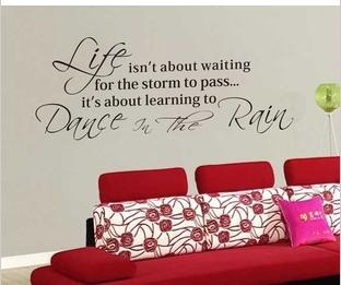 Life 35*90cm Qoute Wall Sticker PVC Words Wall Decal For Diy Craft Vinyl Home Decor Living Room Decoration 60*95cm Free Ship
