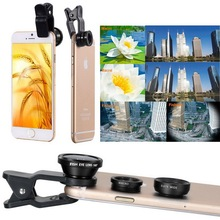 Buy 3 1 Wide Angle Macro Fisheye Lens Kit + Clip Smartphone Mobile Phone lenses Fish Eye iPhone 6 6s 7 s Plus Camera Lentes for $1.48 in AliExpress store