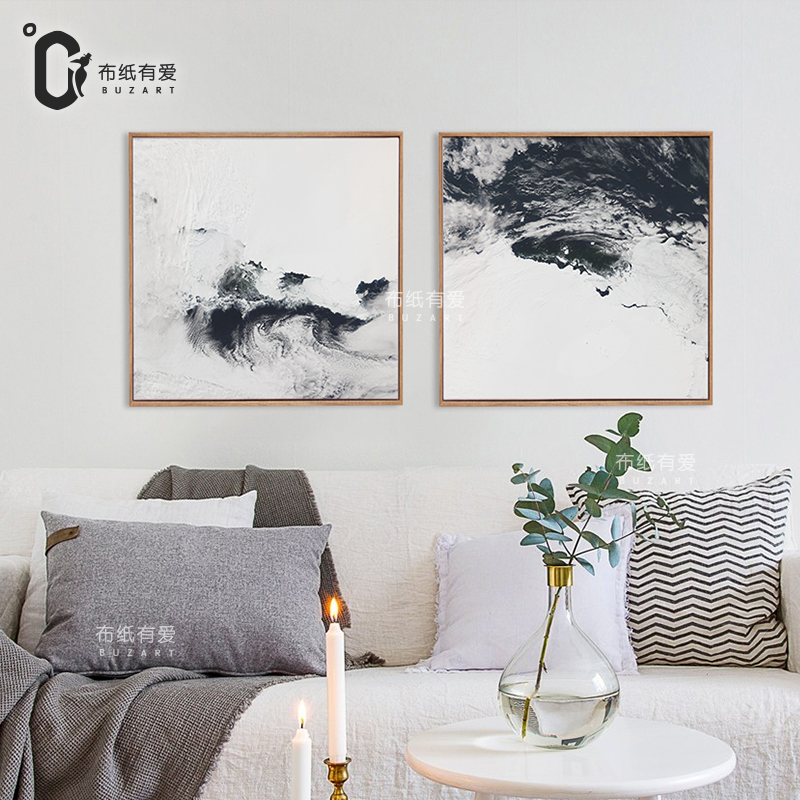 Rivers Black And White Abstract Oil Painting Canvas 2