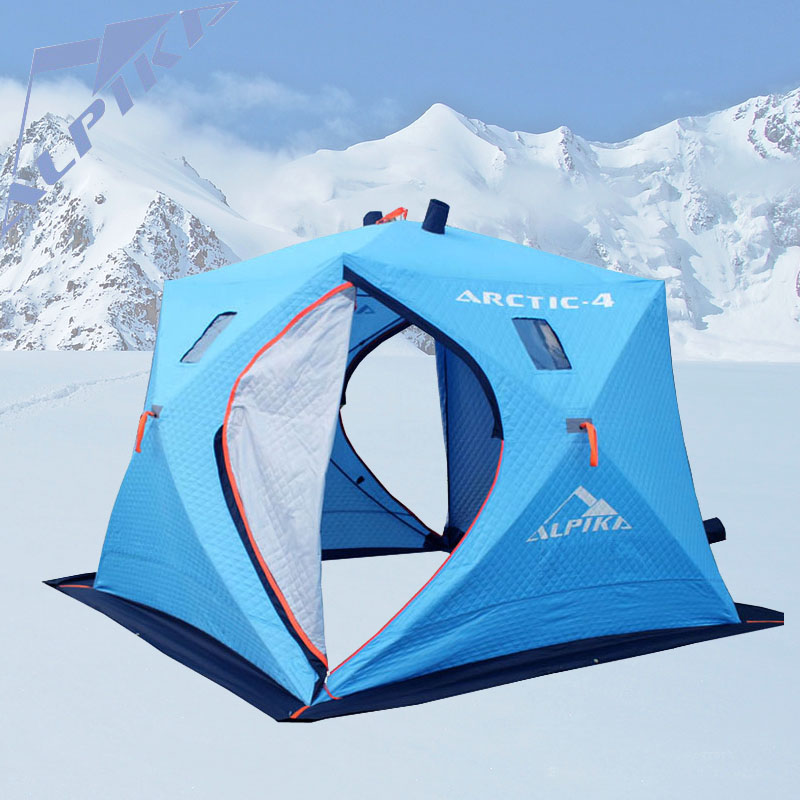 2016 year large space 5-6 people ice fishing tent and three layers of warm oxford winter cotton tent automatic speed tent(China (Mainland))