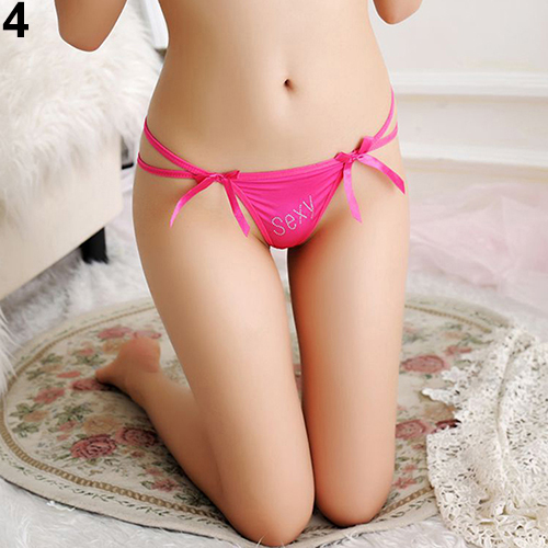 New Sexy Women Lady Bowknot G-string V-string Thongs Lingerie Panties Underwear