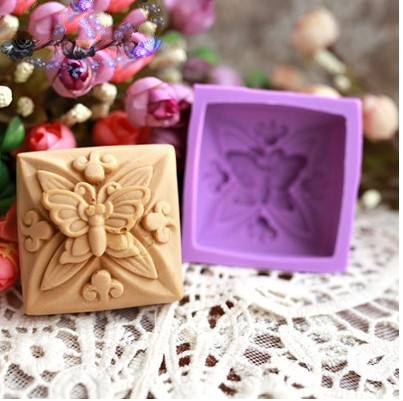 Square Butterfly Silicone Cake Chocolate Soap Pudding Jelly Candy Ice Cookie Biscuit Mold Mould Pan Bakeware xj186 - duanduan yu's store