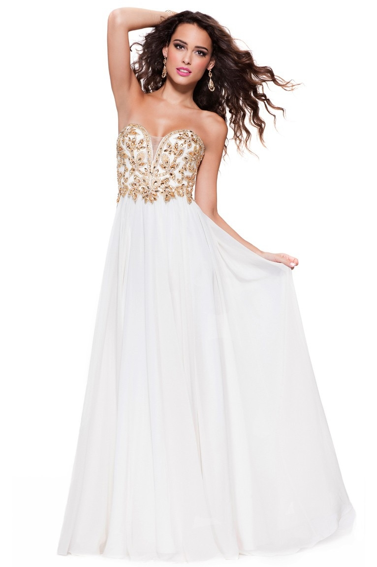 white and gold prom dresses cocktail dresses 2016