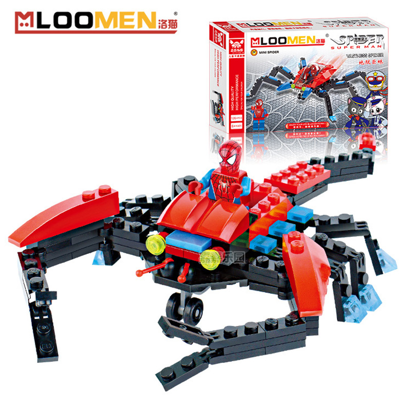 New Arrival Spider Fighter SpiderMan Action Figure Toy Minifigures Building Blocks Toys Educational Kids Gifts(China (Mainland))