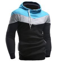 New 2016 Mens Hoodies and Sweatshirts Patchwork Hoodies Men Brand Sport Fashion Men's Tracksuits Sweatshirts Hooded Men Coats(China (Mainland))