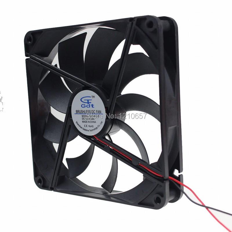 2 PCS/LOT GDT DC 4P 12V Brushless Cooling Fan 140x140x25mm 14025s Cooler Radiator New Brand Heatsink<br><br>Aliexpress