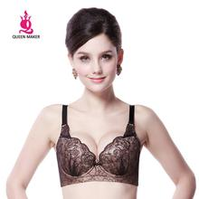 QueenMaker Women's Sexy Intimates Push Up 3/4 Cup Lace Bra/ Underwear FB329, Free Shipping