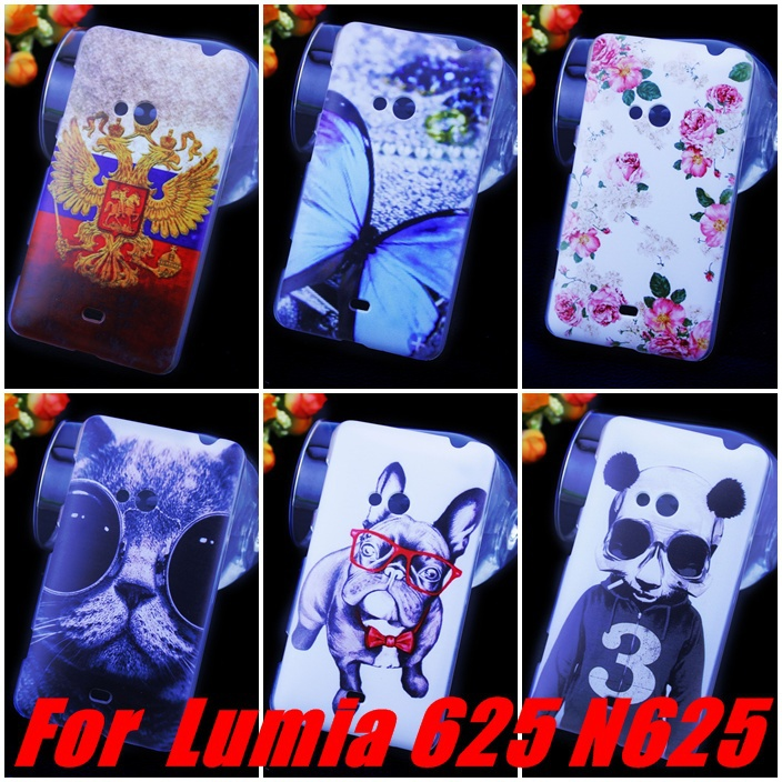 YUONUO ! 10 Patterns Hard Plastic Case nokia Lumia 625 N625 Cover Cases, Cell Phone + capinhas - 3cgiftmall store