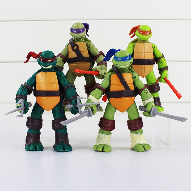 TMNT Classics anime Teenage mutant ninja turtles party supplies action figure toys 4.7inch 50Sets/Lot Free shipping <br>