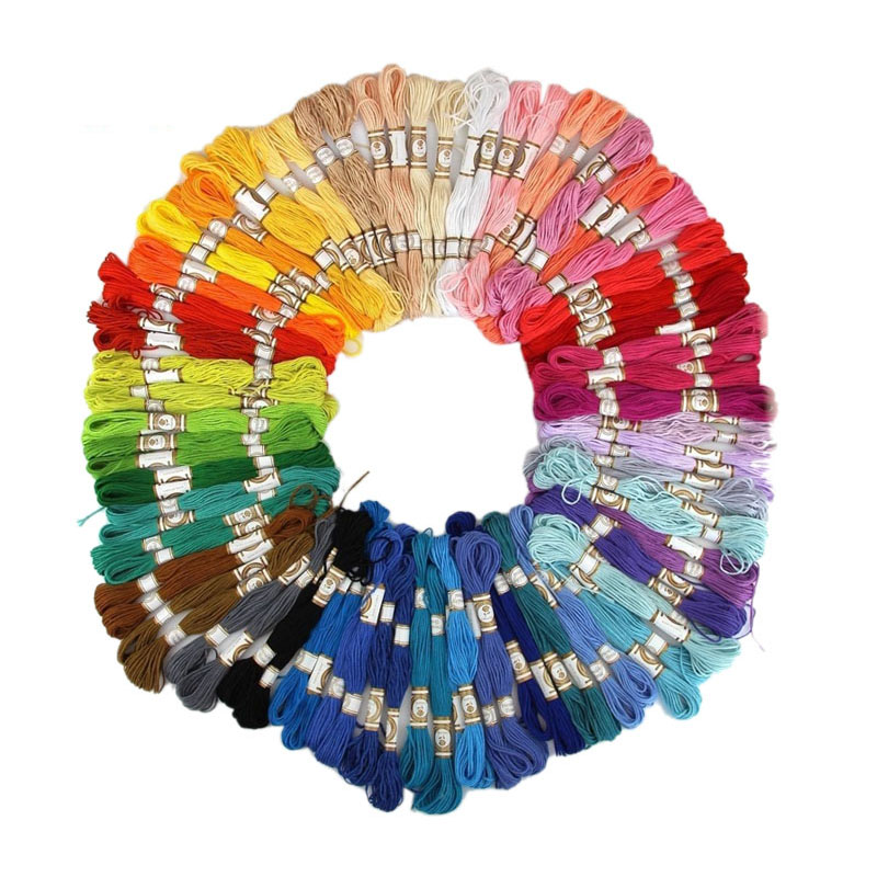 100/50 Anchor Similar DMC Cross Stitch Cotton Embroidery Thread Floss Sewing Skeins Craft