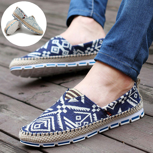 Canvas Shoes Men Summer Breathable Fashion Casual Loafers Driving Slip-On Flats New Alpargatas - CN store