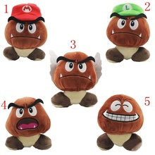 Super Mario Bros Goomba Plush Stuffed Dolls Plush Toys 12CM 5styles choose NEW Plush Toys Figures toy(China (Mainland))
