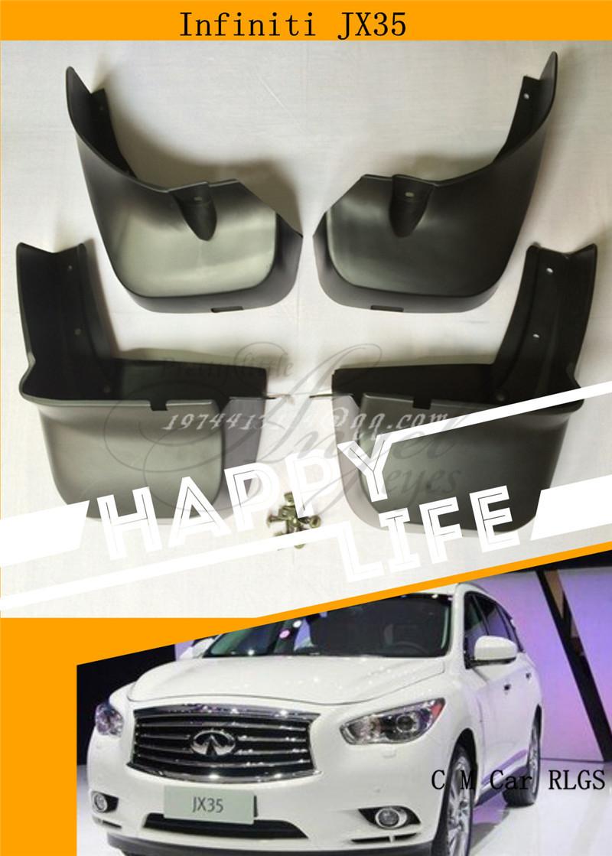 Car fenders, wheel cover splash guard, suitable 2013 - ON infiniti JX35 dirtboard 4 pieces C M car RIGS store