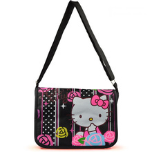 2015 Hot Selling Hello Kitty Messenger bags Children's School bag Canvas Satchel bags Women Casual Shoulder Bag Schoolbag(China (Mainland))