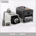 3KW 380V Spindle Motor 3kw Air Cooled Spindle 4KW 380V Inverter cnc Router Spindle Motor