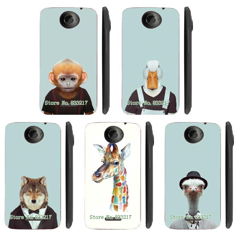 Unique Design Creative Animal Head Design Phone Case Skin Cover White Hard Case Cover For HTC ONE X Case(China (Mainland))