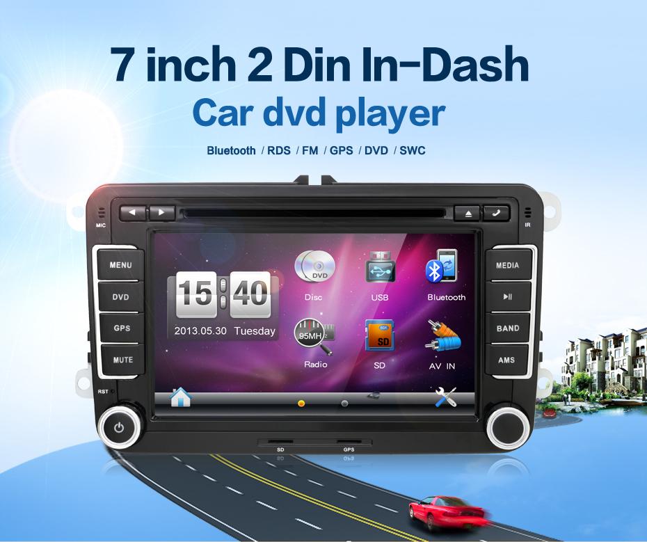 Double 2 Din Car Stereo DVD Player GPS Bluetooth Volkswagen VW Skoda PASSAT TIGUAN Bora Touareg GOLF 5 6 4 Fabia Superb - bosion Juguar store