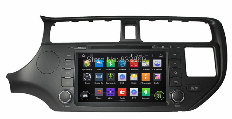 "1024*600 HD 2 din 8"" Android 4.4 Car PC Radio DVD for Kia K3 Rio 2011-2012 With GPS Navi 3G/WIFI Bluetooth IPOD TV USB AUX IN(China (Mainland))"