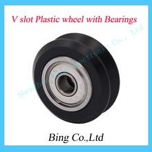 3D printer acs W type double W type V slot V slot Plastic wheel with Bearings passive wheel Openbuilds pulley 20 profile track