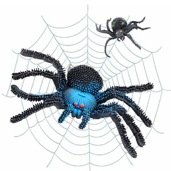 2 pcs big Rubber spider Practical Jokes toy fake spider Simulation spider scary toy horror insect for Halloween party Decoration(China (Mainland))