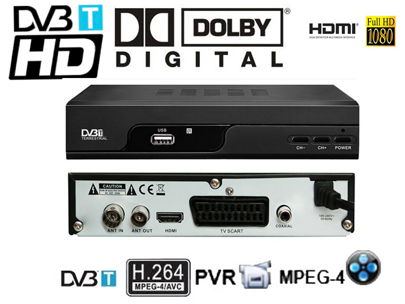 Dolby AC3 HD DVB-T H.264/Mpeg4 Mini Scart Terrestrial Receiver Tv Tuner Dvb-t Freeview Box HDTV/DVB-1227(China (Mainland))