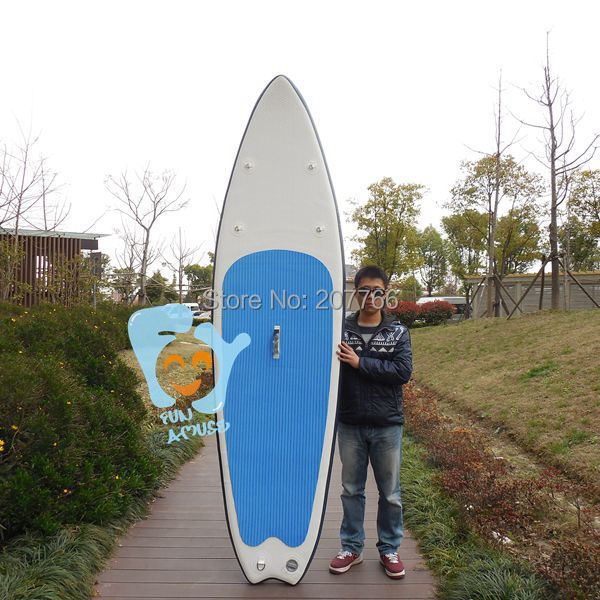 9 Foot 6 Inch (290cm )Inflatable Surfboards SUP Paddle Board EVA Deck 76cm Wide 10cm Thick Load 115kgs(China (Mainland))