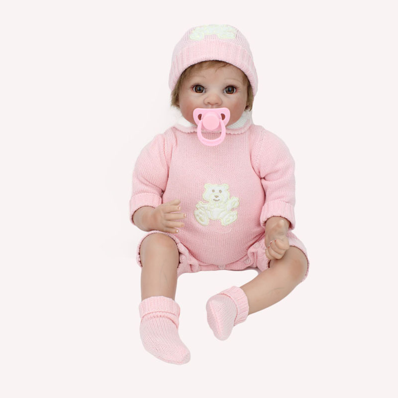 22 inch Silicone Reborn Baby Doll Soft Vinyl Dolls Gift  : 22 inch Silicone Reborn Baby Doll Soft Vinyl Dolls Gift For Girls Beautiful Pink Romper Magnet from www.aliexpress.com size 800 x 800 jpeg 61kB