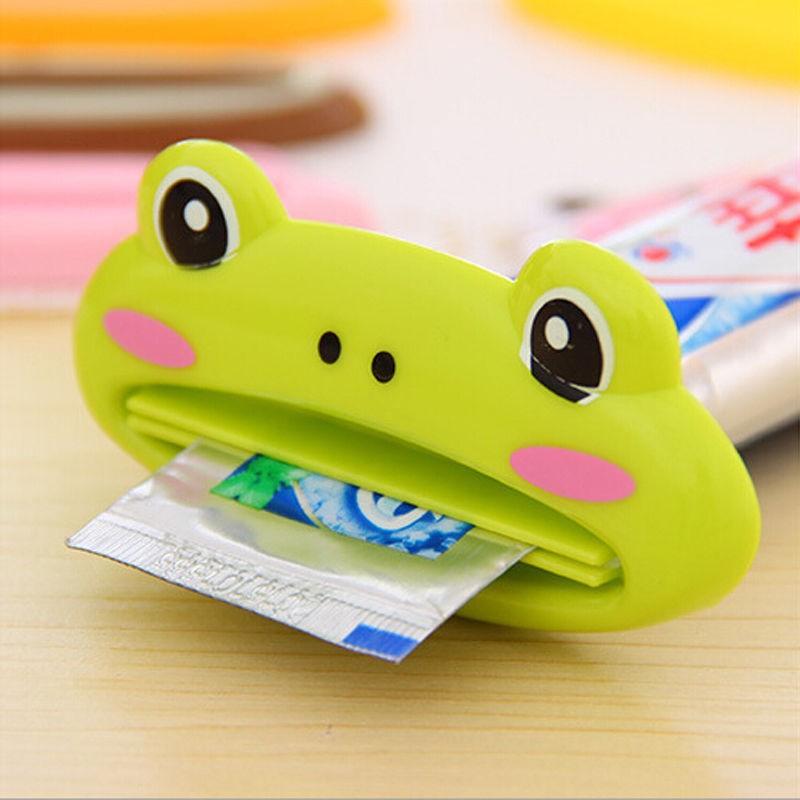2 PCS Kawaii Cute Animal Multifunction Plastic Toothpaste Squeezer Bath Toothbrush Holder(China (Mainland))