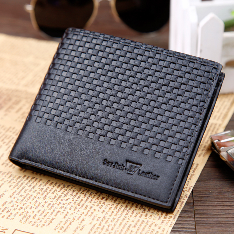 designer brand mens wallets i3qa  Fashion Men Wallet PU Leather Mens Famous Brand Plaid Embossing Male Purse  Designer