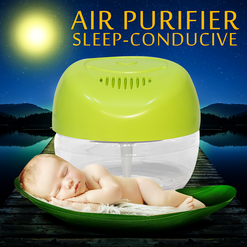 2150ml Portable Purificador De Aire Freshener Air Cleaner Apple-shaped Household Water Air Purifier Air Cleaner Fresh KS-03CL(China (Mainland))