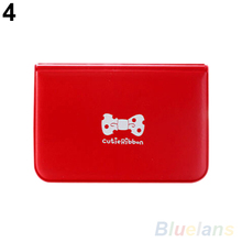 Women s Bowknot Business ID Credit Cute Card Pocket Bag Wallet Holder Case 07X1
