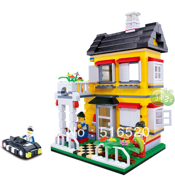 Wange city villa series Building Block Sets 390pcs Educational Jigsaw Enlighten Construction bricks toys for children