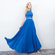 Evening Dresses Long Ever Pretty Women Elegant Navy Blue green Seven colors o-neck Sleeveless Empire Evening Dresses 2017 New(China)