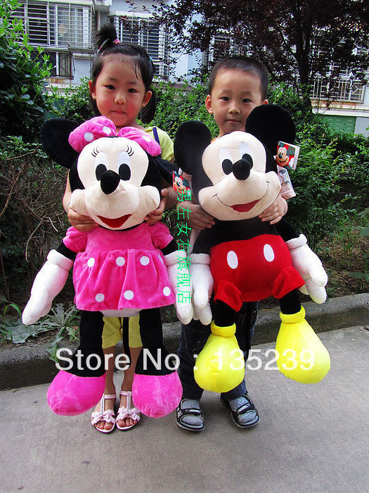 65CM Mickey Mouse / Red & Pink Minnie Mouse plush toys for 1 year olds, minnie mouse stuffed animal,Baby toy(China (Mainland))