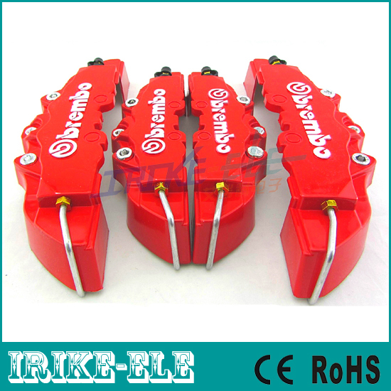 Red color! Brembo Brake Caliper 4pcs/lot Car Front+ Rear 3D Disc Cover with Universal Kit FREE SHIPPING(China (Mainland))